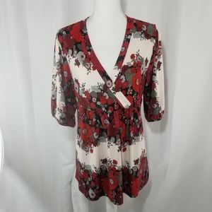 Lane Bryant floral V-neck Blouse